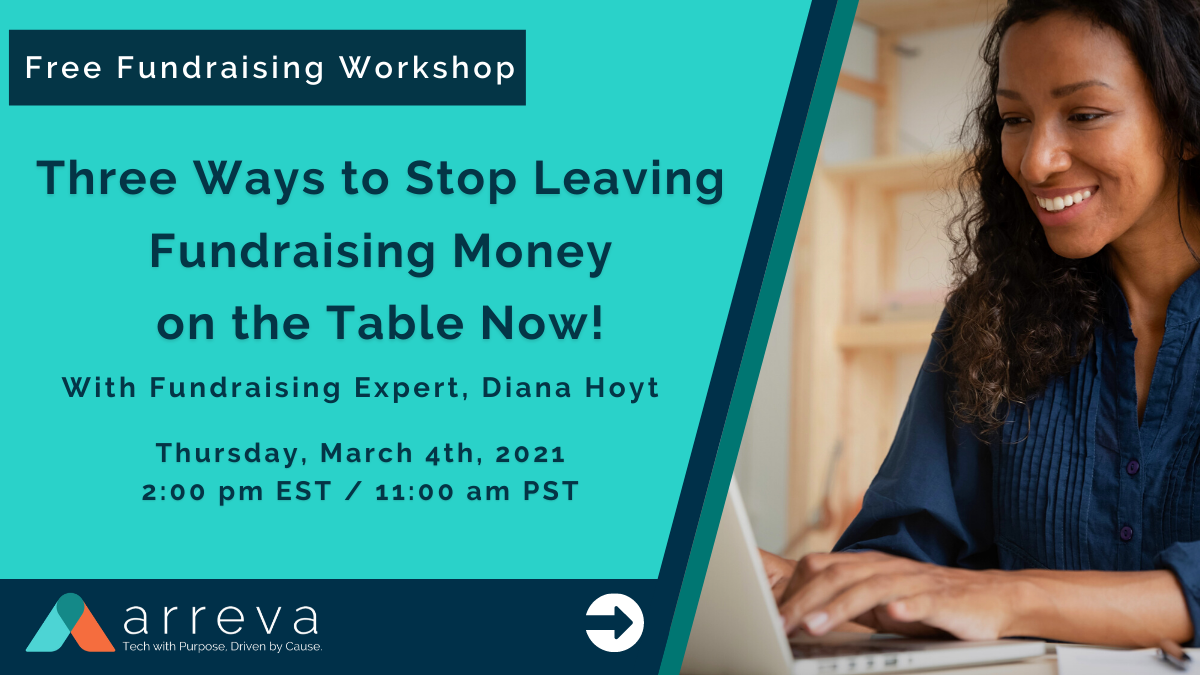 Free Fundraising Workshop: Three Ways to Stop Leaving Fundraising Money on the Table Now!
